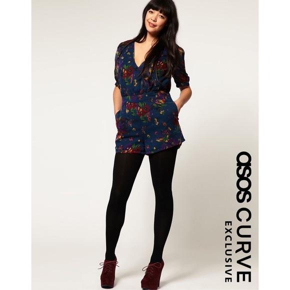 894c95c6d11 ASOS Curve Pants - ASOS Curve Playsuit In 40 s Floral Romper ...